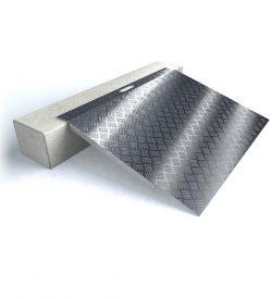 Rampe de seuil en aluminium pour rebord jusque 15 cm