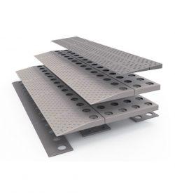 Rampe de seuil modulaire de 4,5 à 6 cm