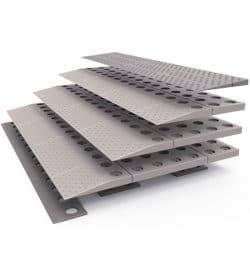 Rampe de seuil modulaire de 6,5 à 8 cm