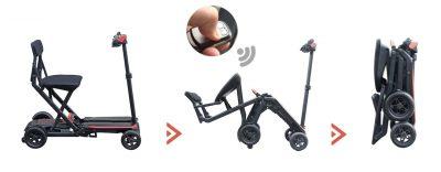 Pliage automatique scooter maleta